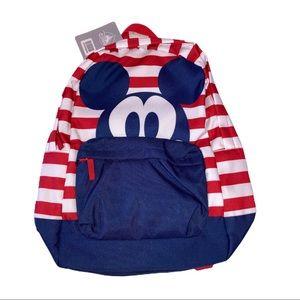 Disney Mickey Mouse RWB Americana Striped Backpack